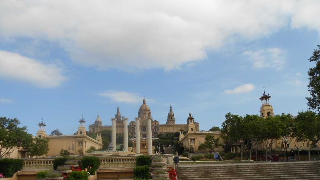 The National Museum of Art in the distance. Montjuic park has beautiful gardens to take those wedding photos around.