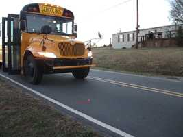 5-year old got off the bus on Speedway Road and was crossing the road in front of the bus.