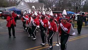 The WSSU band received many of the fans' cheers. (Kenny Beck/WXII)