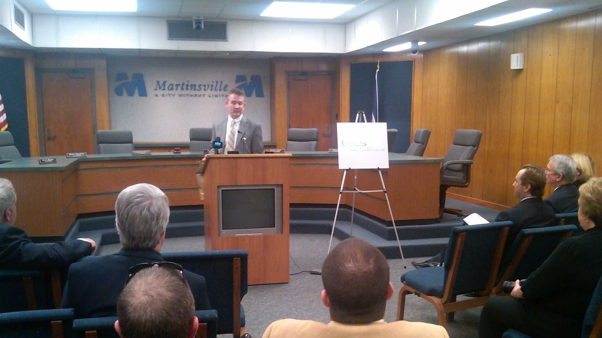 The jobs announcement took place Tuesday afternoon in Martinsville. (Photo by WXII's Jeff Amernick)