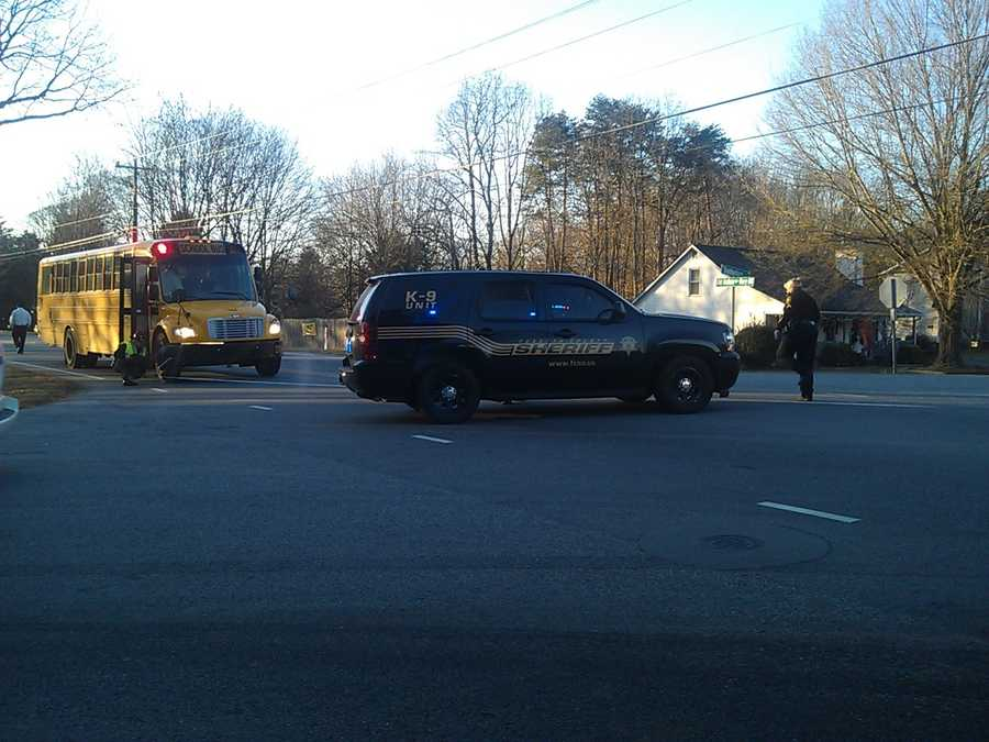 The incident happened near the intersection of Shaddowfax and Old Hollow Road in Kernersville around 7 a.m.