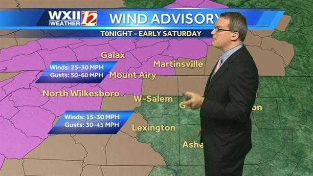 A more local look at the wind advisories.