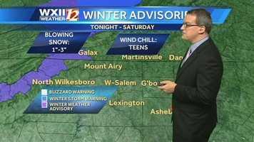 Winter advisories ...