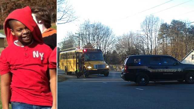 Hasani Wesley, left, and bus crash scene, right (WSFCS/Arthur Mondale/WXII)