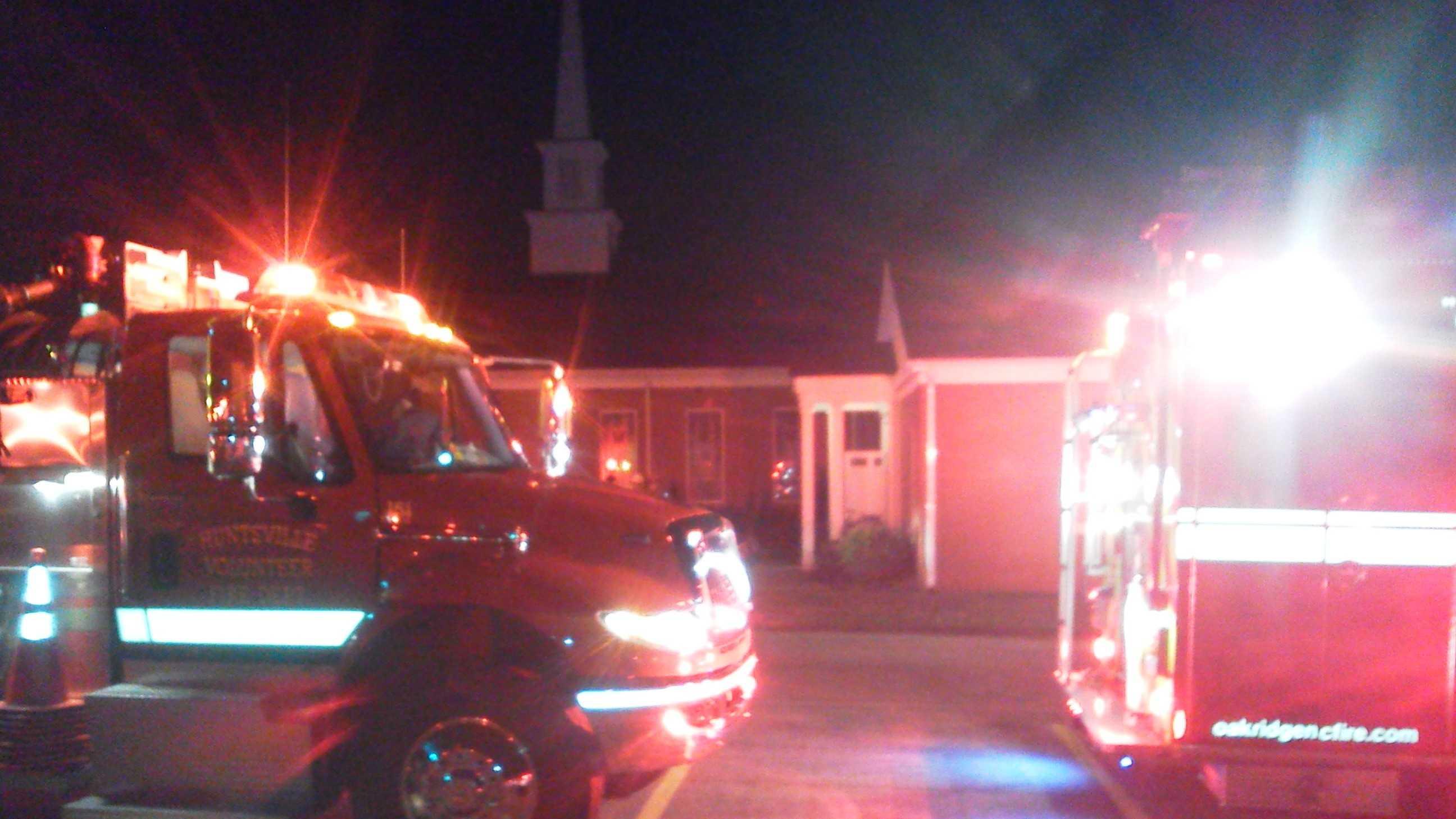 Mt. Zion United Methodist Church fire