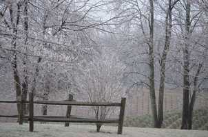 WXII's William Bottomley sent us these Wednesday morning photos of winter weather in Alleghany County.