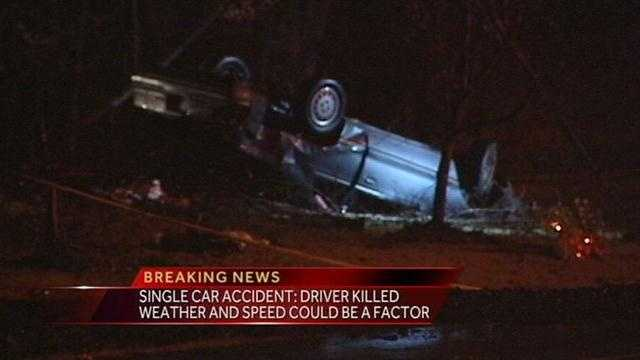 Car flips in Winston-Salem&#x3B; Driver killed