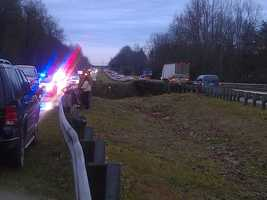 Police said the accident was on 52 northbound between exits 117 and 118. Authorities said only one lane was open, though the scene was cleared by about 8:45 a.m.