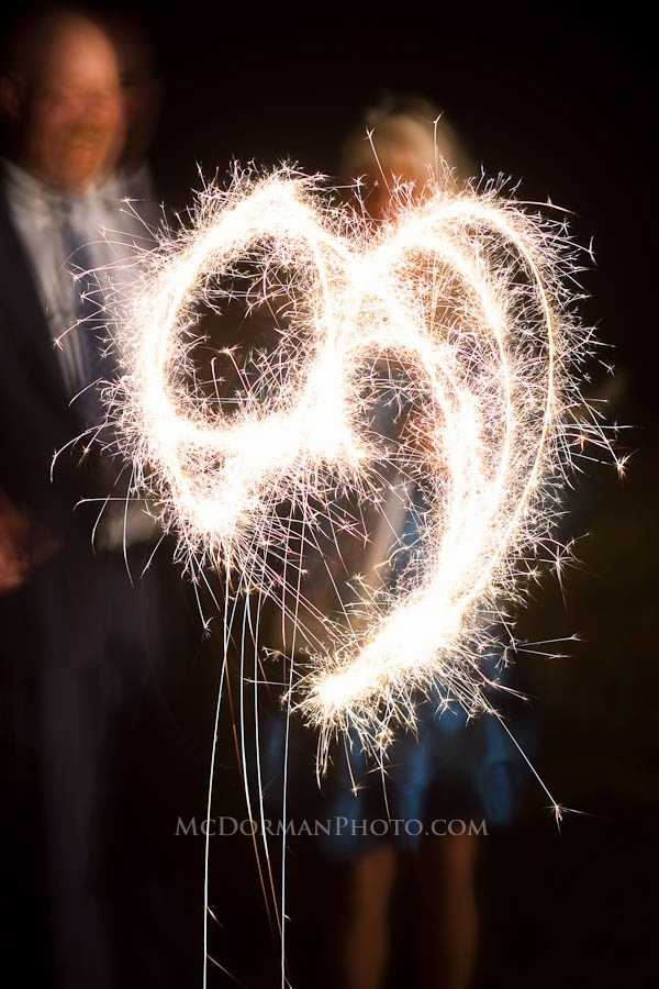 Heart decorations like this cool sparklers artwork can be used to have little hints of the Valentine's Day Theme...
