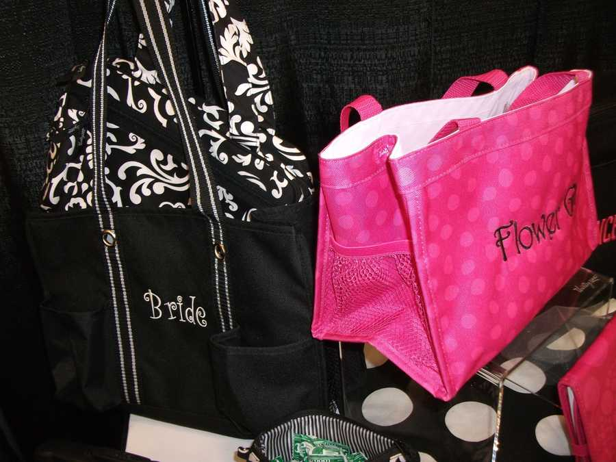 Even the gift bags for the wedding party can have hints of pink, red and white on them for the theme. Anywhere you decide but don't overdo the theme, but have a few hints of the Valentine's Day Theme throughout the bachelorette party, wedding shower, wedding and reception. (Thirty-One Personalized Gifts)