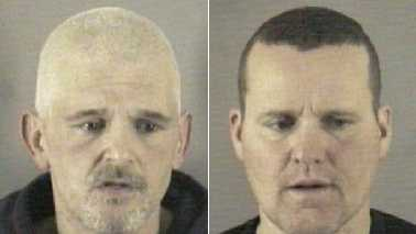 James Settle, left, and Scott Anglin, right (Wilkes County Sheriff's Office)
