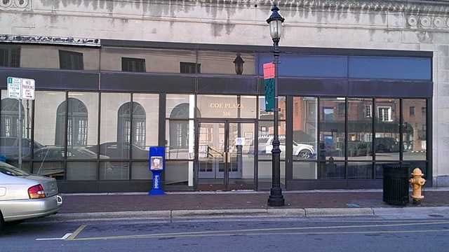 Coe Plaza will become the site of the Mast General Store in 2014. (William Bottomley/WXII)