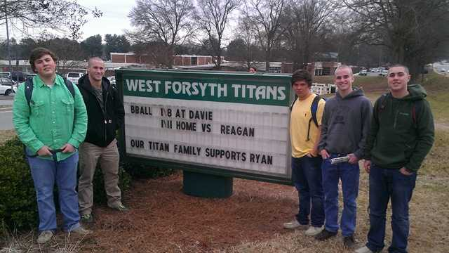 West Forsyth High School is rallying around Ryan Wood, who has been told he has only a few more weeks to live after developing cancer. (Bill O'Neil/WXII)