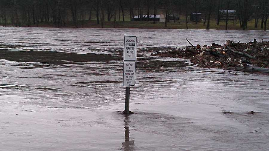 WXII's William Bottomley uploaded these photos Wednesday of flooding in Alleghany County.