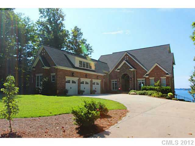 This four bedroom lakefront home is located in Denver, North Carolina and priced at $1,579,000.