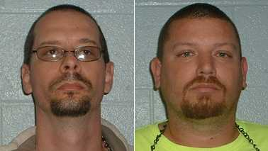 Marc Oldroyd, left, and Brian Whittaker, right (Yadkin County Jail)