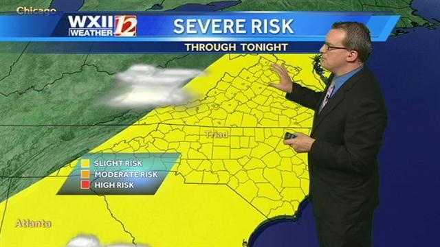 There is a chance of severe weather this afternoon in the viewing area.