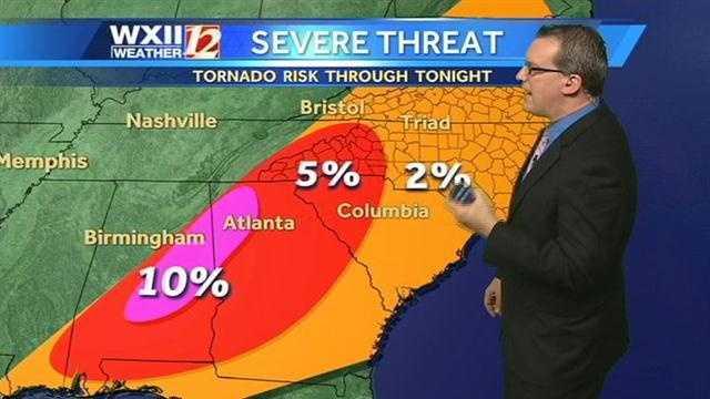 Severe threat map