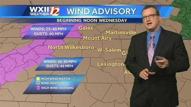 Wind advisories