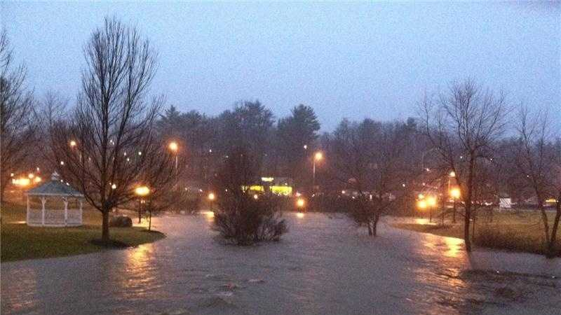 Flooding at Durham park in Boone (Courtesy Mary Dickert)