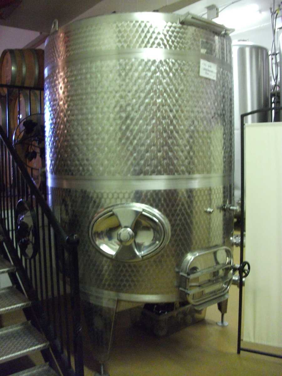 The vinification process will be shown to you by a tour guide at most vineyards. (Westbend Vineyards and Brewhouse)