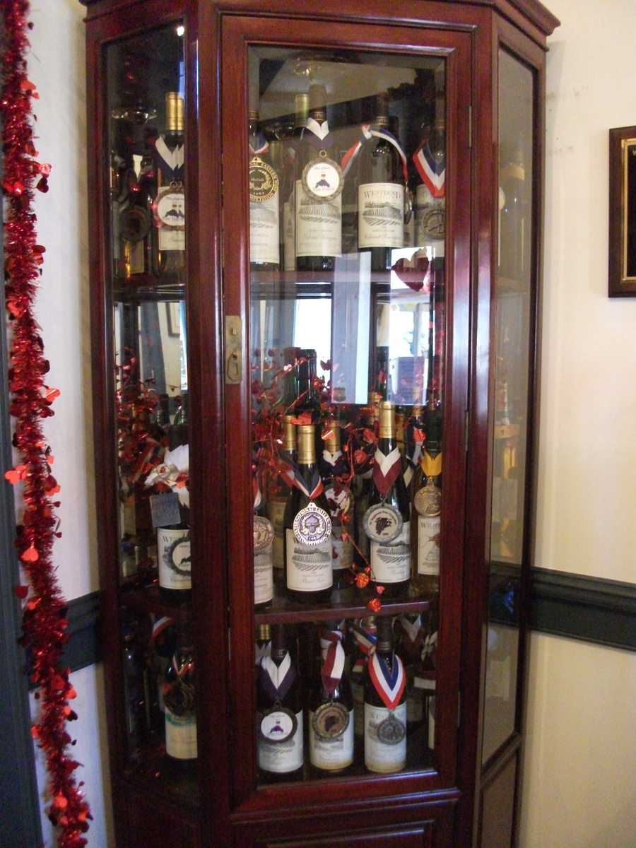 If you don't know the vineyards wines then just check out their display cases for best wine metals they have recieved and then make a choice. (Westbend Vineyards and Brewhouse)