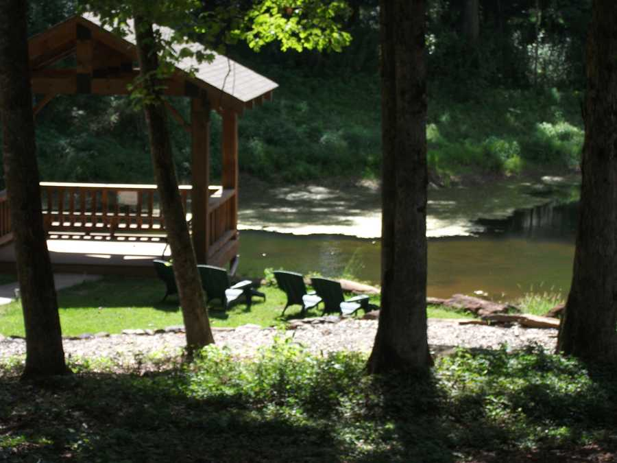 Sanders Ridge Vineyard has beautiful views and a gazebo to go relax at and look at the pond, fish and turtles while enjoying your wine.