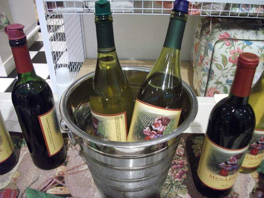 Gifts for the wedding party or the wedding couple to be could be prechased as a gift. Just remember what each person's favorite wine was during the tasting. (Menarick Vineyards and Winery)