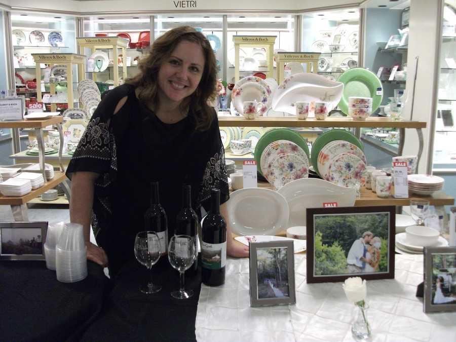 Elkin Creek Vineyard hosts taste testing at wedding shows and gives out information to the guests.