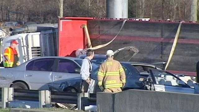 Only minor injuries were reported in the crash.