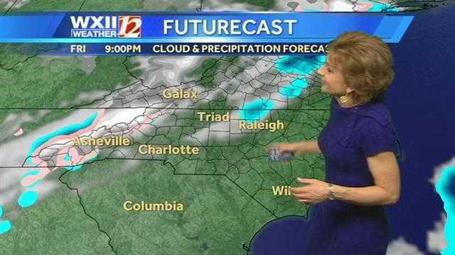 Let's check the futurecast images at various hourly intervals.