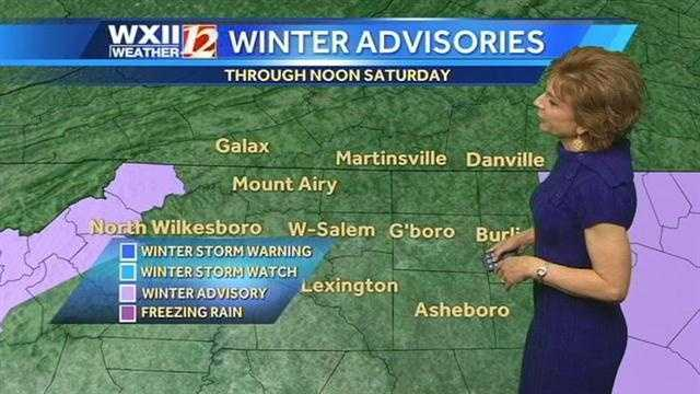 Advisories in the west and east.