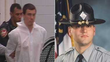 Mikel Edward Brady, left, and Trooper Michael Potts, right (Courtesy WNCN and NC Highway Patrol)