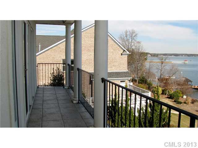 Balcony view of Lake Norman