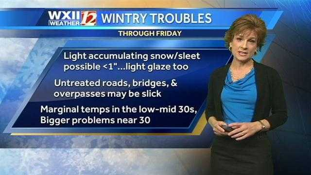 Travel conditions could be hazardous.