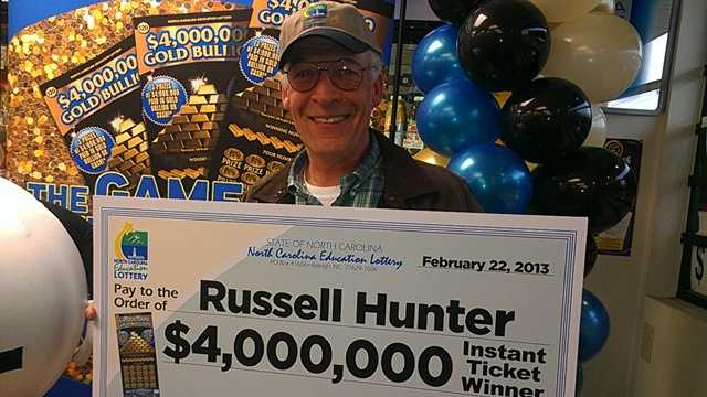 "Russell ""Rusty"" Hunter $4 million winner"