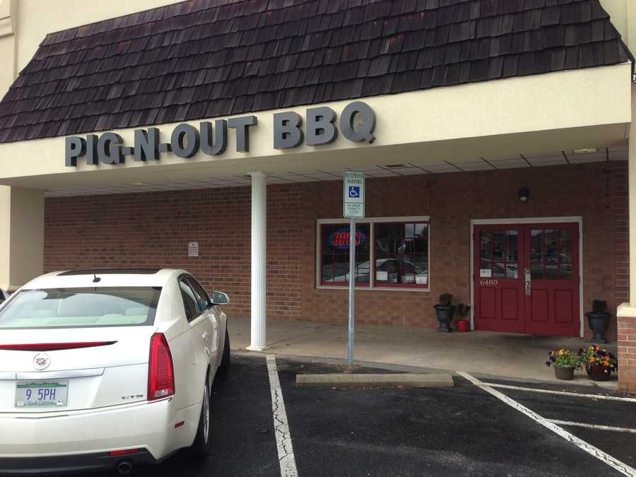Pig-N-Out  BBQ is on Shallowford Road in Lewisville.