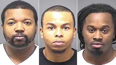 L-R: Irving Boone, Floyd Brown III and Tyrone Cartwright (Greensboro police)
