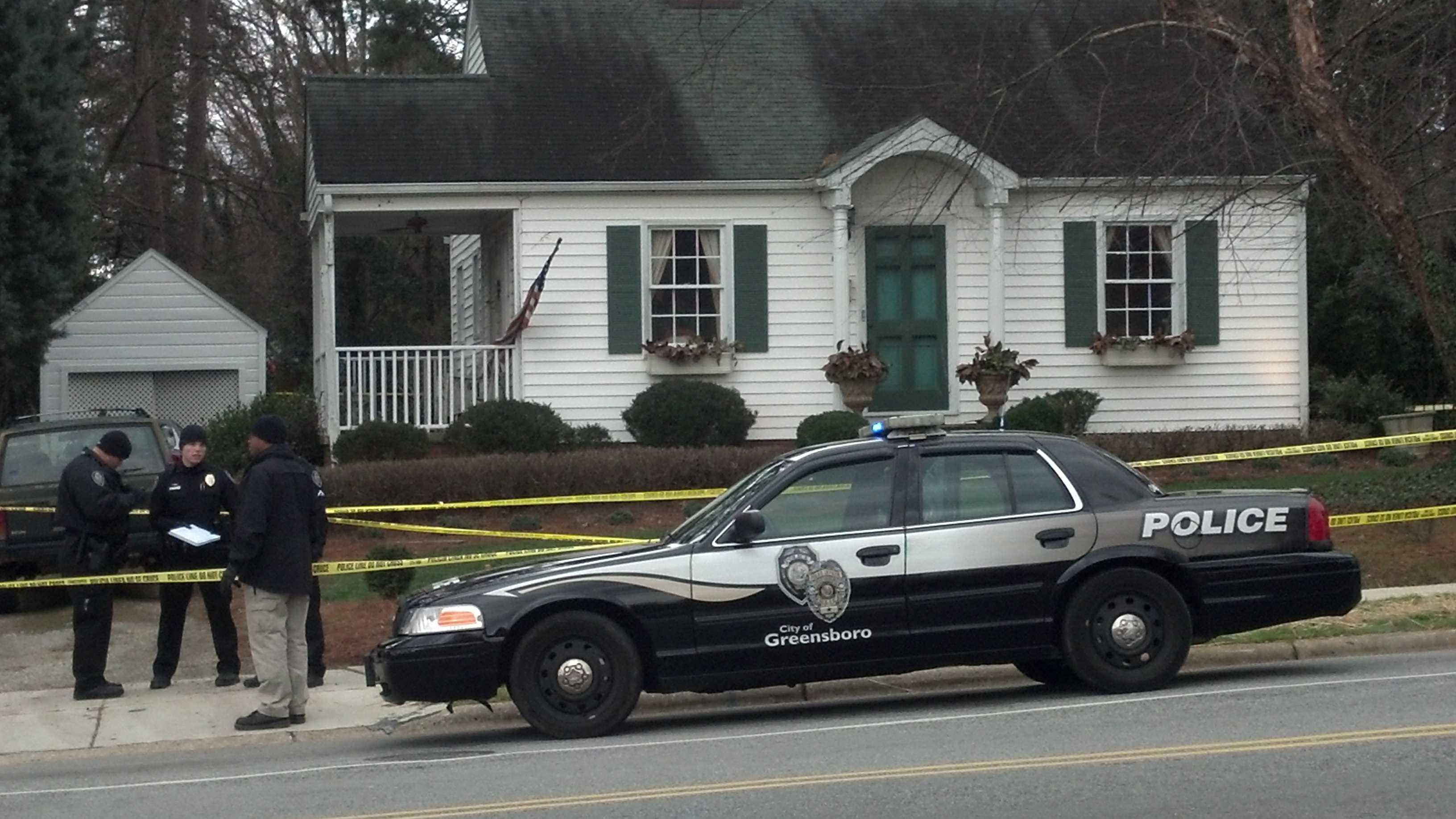 Greensboro murder scene Saturday