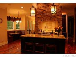 Gourmet Kitchen with an eat-in Breakfast Area