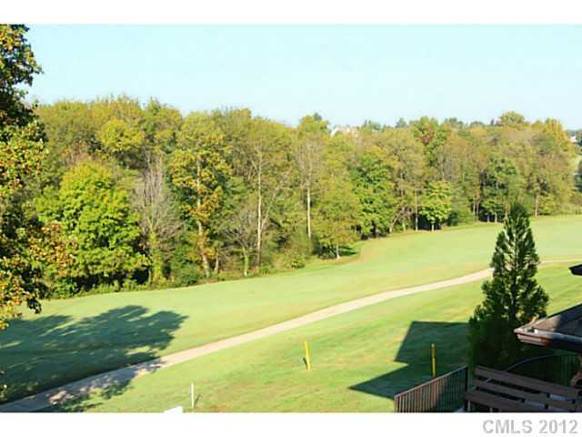 View of the golf course from property