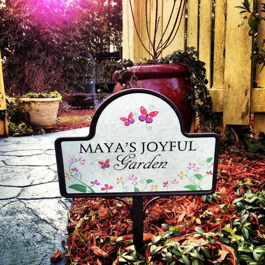 """She invited us into her garden, which was full of historic sculptures. Here are the photos from our trip to """"Maya's Joyful Garden."""""""