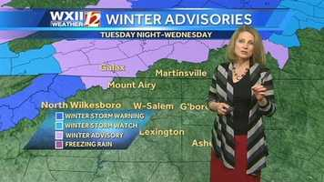Winter advisories that are in effect. |County-by-county alerts
