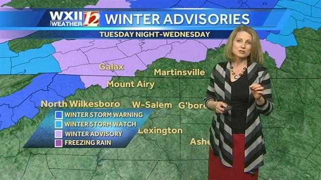 Winter advisories that are in effect. | County-by-county alerts