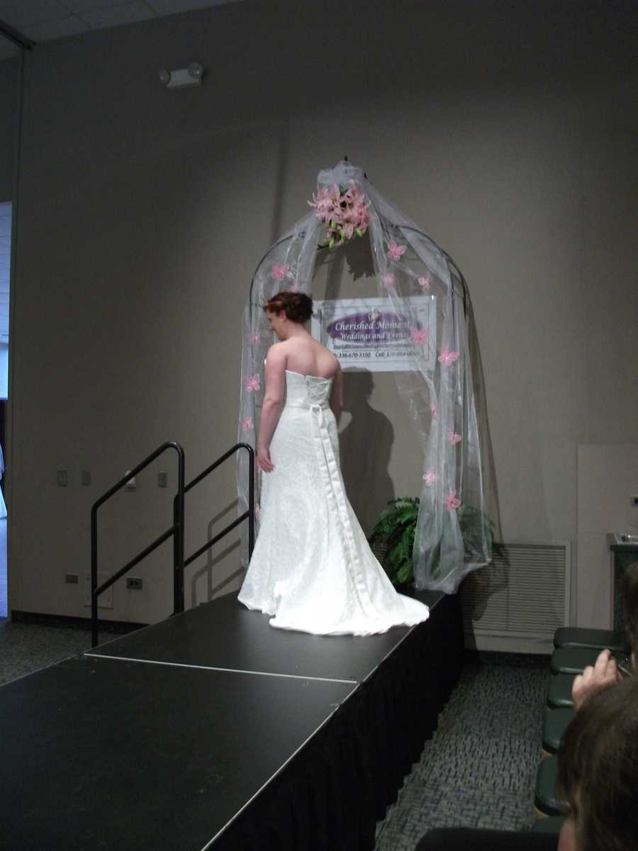 All the gowns have beautiful backs and the fashion shows at bridal shows help for you to decide what you may want for your ceremony.