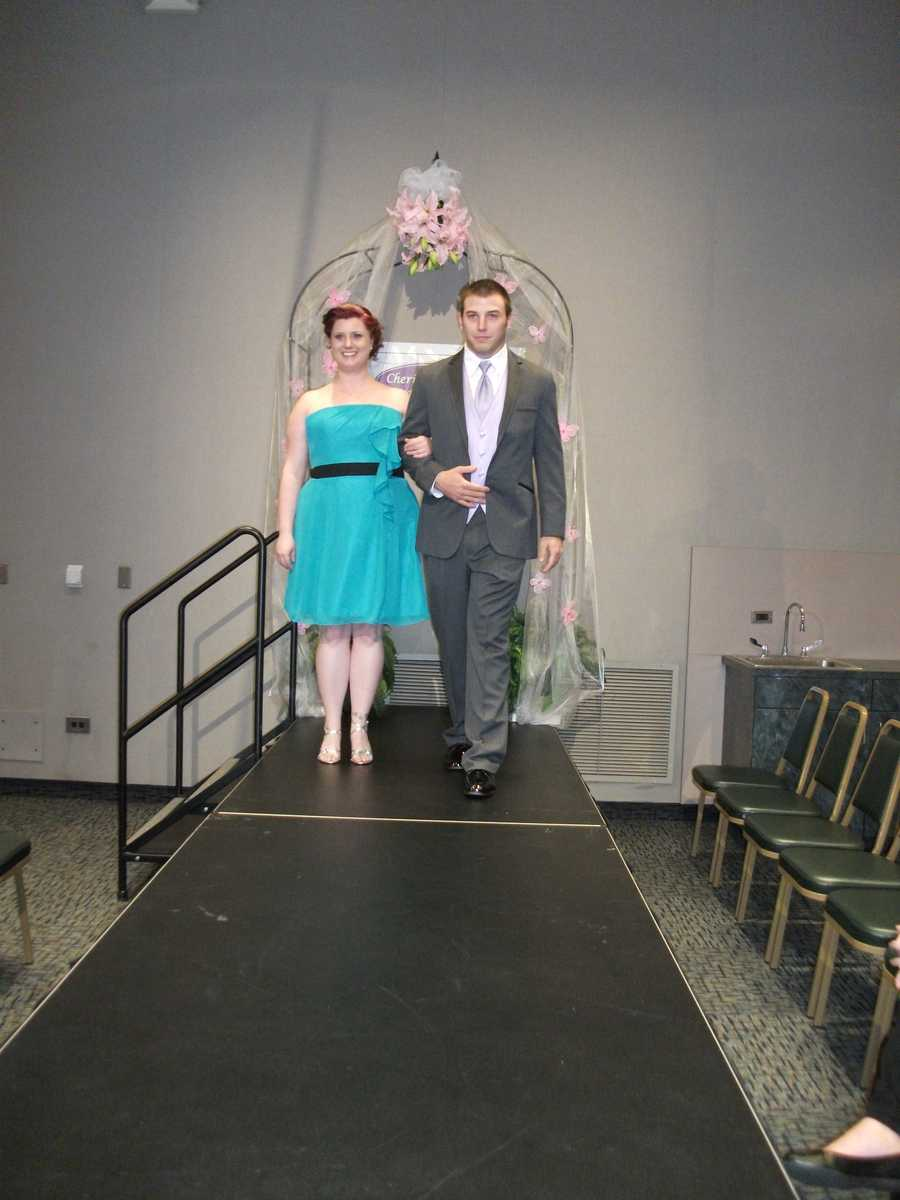 The bridesmaids and grooms clothing can be picked out at Wedding Shows from several vendors.