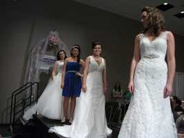 If you take the maid of honor and maybe bridesmaids to the wedding shows they too can pick out what they would like to wear in the ceremony.