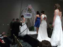 The entire wedding fashion show was enjoyed by the audience of future brides and guests.