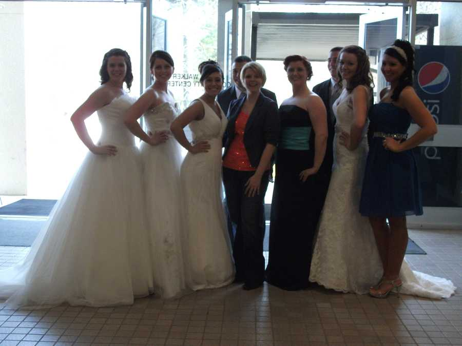 Kelly Shumate (in the center) from Bridal Traditions Wedding and Prom Attire put the Wilkes Wedding Expo and Bridal Fashion Show together. Thanks from all the vendors, models and guests for this successful event.