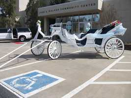 Ball & Ball, Enterprises Inc. can give you a limo ride to all your wedding parties and the ceremony or choose a carriage to show up in from Circle M Stables.